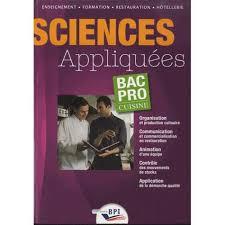 sciences appliqu s cap cuisine sciences appliquées bac pro cuisine achat vente livre brigitte