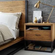 copenhagen reclaimed wood nightstand west elm our apartment