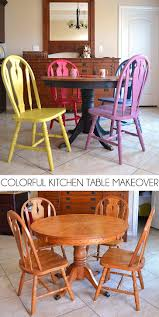 colorful kitchen chairs colorful kitchen table makeover dream a little bigger