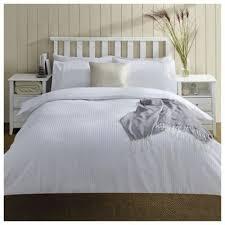 buy seersucker double duvet set white from our double duvet