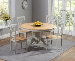 round dining table 4 chairs elstree 120cm painted oak grey round dining table 4 chairs