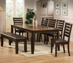 dining room 7 piece sets crown mark elliott 7 piece dining table and chairs set with bench