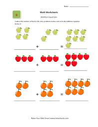 picture addition worksheets math for preschoolers ukg kids