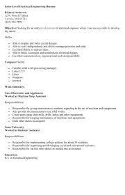 Example Summary For Resume Of Entry Level by Entry Level Resume Example Resume Examples For Entry Level