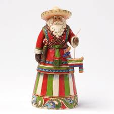 Jim Shore Christmas Tree Ornaments by Jim Shore Mexico Mexican Santa Claus Around The World Heartwood