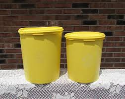 yellow canisters etsy