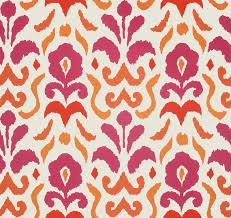Pink And Orange Curtains Pink And Orange Ikat Upholstery And Drapery Fabric Modern