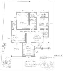 low budget 2 bedroom home plan with 1151 square feet in 6 cent