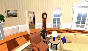 Oval Office Paintings by Second Life Travels The Oval Office