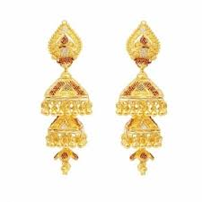 gold earrings online earrings bell shape gold earrings online shopping india
