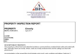 building defect report template sle reports advanced building inspections