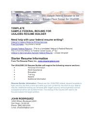 how to write a federal government resume 10 federal government