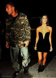 kourtney kardashian wears plunging lbd with younes bendjima