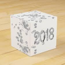 new years party box silver white new years diamond glitter confetti favor box new