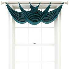 Tab Top Valance Ally Tab Top Waterfall Valance Zenith Teal U2013 The Curtain Outlet