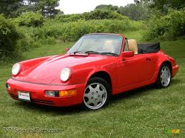 guards red porsche 1991 porsche 911 carrera 2 cabriolet in guards red 460883