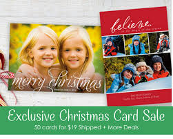 christmas card deals exclusive card deal 50 cards for 19 shipped