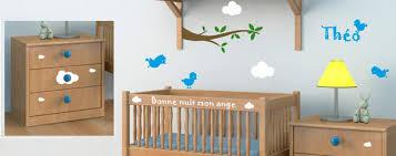 d oration chambre de b chambre bébé avec stickers