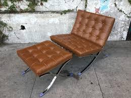 Chair W Ottoman Barcelona Lounge Chair W Ottoman Sunbeam Vintage
