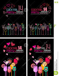 valentine s day cocktail party poster stock vector image 82544592