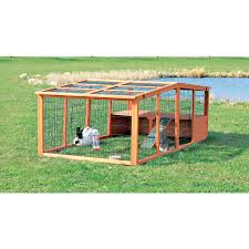 Rabbit Hutches And Runs Trixie Outdoor Run With Mesh Cover Extra Large Hayneedle