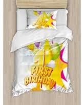 Pink And Yellow Birthday Decorations Slash Prices On 1st Birthday Decorations Twin Size Duvet Cover Set