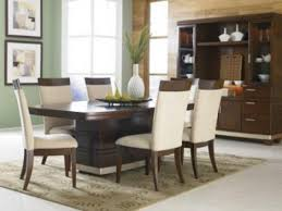 Modern Luxury Dining Table Villa Faux Leather Brown Dining Chairs Set Of 2 Modern Dining