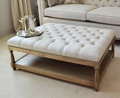 padded coffee table cover ottoman coffee table oatmeal linen la residence interiors