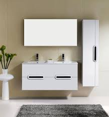 Wall Mount Bathroom Cabinet by Adornus Yakira 48 Inch Double Sink White Wall Mounted Bathroom Vanity