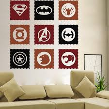 popular wall decals uk buy cheap wall decals uk lots from china the avengers hero vinyl art wall decals sticker home kids room decor mural uk china