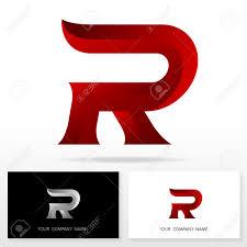 letter r logo design business vector sign business card