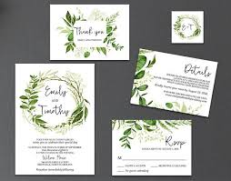 beautiful floral invitation set instant download this set