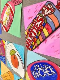art at becker middle pop art candy paintings studying