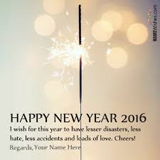 write your name on happy new year wish on we it