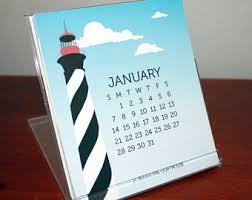 Small Easel Desk Calendar Mini Calendar Etsy