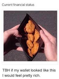 Meme Wallet - current financial status tbh if my wallet looked like this i would
