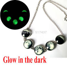 aliexpress moon necklace images Glowing jewelry galaxy moon necklace full moon to the past glass jpg