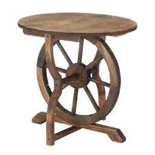 Wagon Wheel Coffee Table by Wood Wagon Wheel Table Wayfair