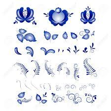 russian ornaments in gzhel style gzhel a brand of russian ceramics
