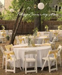 Wedding Backyard Reception Ideas by Backyard Wedding Reception By Partiesforpennies Com Weddings