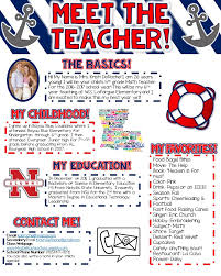 Nautical Themed Music - meet the teacher newsletter nautical theme red white and blue