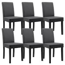 chaise simili cuir gris table 160 cm en bois avec 6 chaises pour tables a 492 09