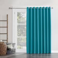 sun zero hayden grommet blackout patio door window curtain panel