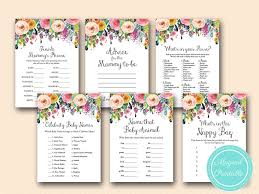 baby showergames shabby chic baby shower printable magical printable