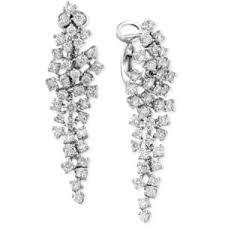 diamond chandelier earrings classique by effy diamond cluster chandelier earrings 2 5 8