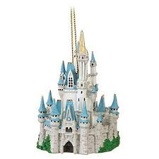 disney ornament cinderella castle figure ornament