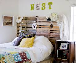 custom diy unusual headboard design made from pallet with wall