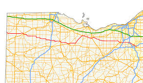 Ohio County Map With Roads by Ohio State Route 18 Wikipedia