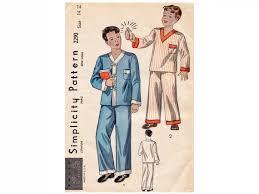 1930s boys pajamas factory folded vintage sewing pattern