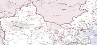 Taklamakan Desert Map China Road Map 15d Jpg